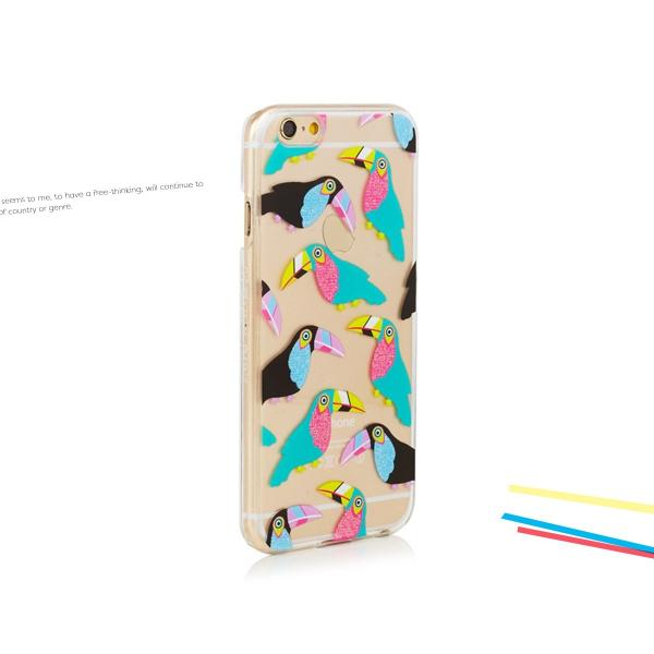 iPhone  iPhone6/6s スキニーディップ  SKINNYDIP Toucan カラフル オウム ケース カバー  シリコン アイフォーン メール便 送料無料 freekstore 05
