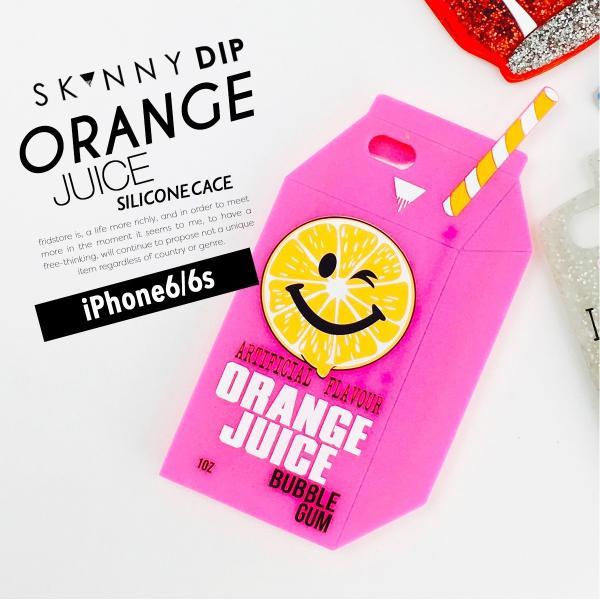 iPhone iPhone6/6s スキニーディップ SKINNYDIP オレンジジュース ケース カバー シリコン 耐衝撃 おしゃれ アイフォーン メール便 送料無料|freekstore