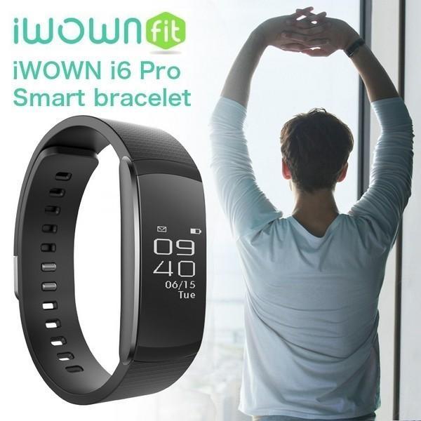 スマートウォッチ iWOWNfit i6 Pro 正規代理店 日本語対応 フィットネス スマートブレスレット iPhone Android 自動測定 IP67 防水防塵 1年間保証書完備