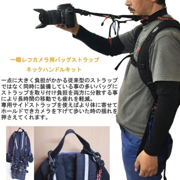 KEMEKO ケメコ 一眼レフカメラ用バッグストラップ ネックハンドルキット バックパック・リュック取り付け型カメラストラップ あすつく対応|freeline|02