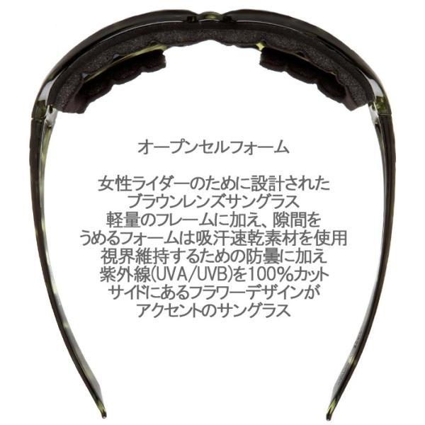 RIDEZ ライズ BOBSTER ボブスター スカーレット ESCA003 グリーン バイク用サングラス 曇り止めスモークレンズ 女性向けアイウェア あすつく対応|freeline|02