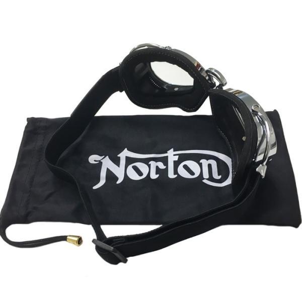 NORTON ノートン バイク用ゴーグル NRVG02 ブラック/クリア ビンテージ・クラシックスタイル あすつく対応 freeline 04