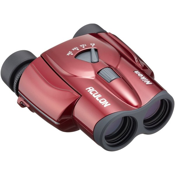 送料無料 ポイント消化 おすすめ 人気Nikon ズーム双眼鏡 アキュロンT11 ポロプリズム式 8-24x25 売り出し 店舗 レッド 8-24倍25口径 ACT11RD