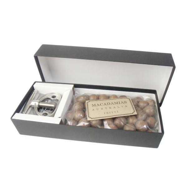 殻付きマカダミアナッツ (ロースト) 500g 専用殻割り器付き ギフトセット (化粧箱入り)