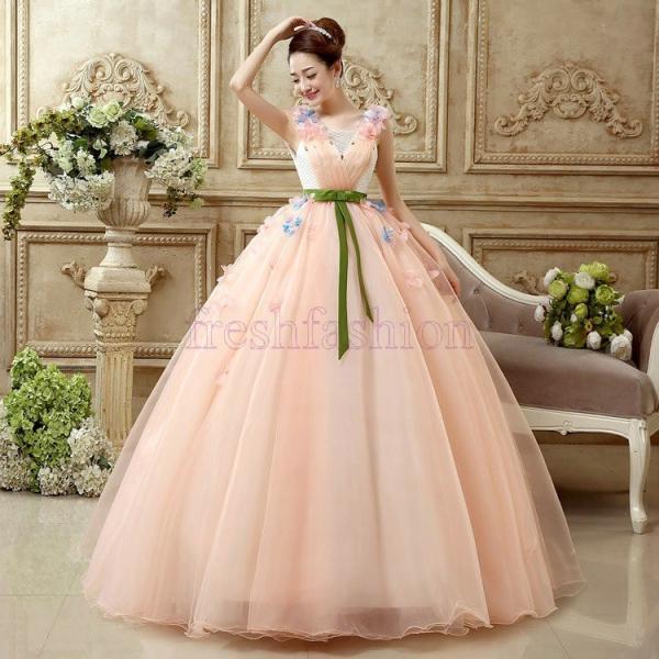 b585d912680ad ... 新品人気 ウエディングドレス パーティードレス 結婚式 パーティドレス ウェディングドレス 花嫁 大きいサイズ カラー ...
