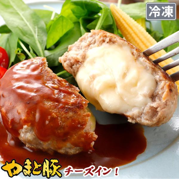 やまと豚 チーズイン ポーク ハンバーグ 150g | [冷凍] チーズハンバーグ お取り寄せグルメ お取り寄せ 肉 冷凍 業務用 おかず 食品 ご飯のお供 豚