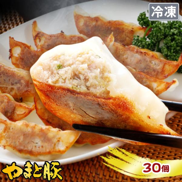 やまと豚 肉餃子 30個 | [冷凍] 取り寄せ 冷凍餃子 中華 肉餃子 中華料理 業務用 ご飯のお供 肉 お肉 冷凍 豚肉 おつまみ 冷凍食品 食べ物 内祝い お返し