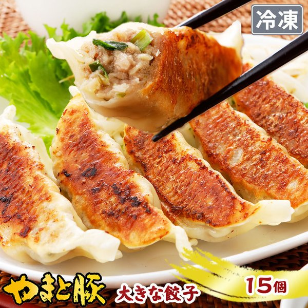 やまと豚 大きな肉餃子 15個 | [冷凍] 取り寄せ 冷凍餃子 中華 肉餃子 中華料理 業務用 ご飯のお供 肉 お肉 冷凍 豚肉 おつまみ 冷凍食品 食べ物 内祝い