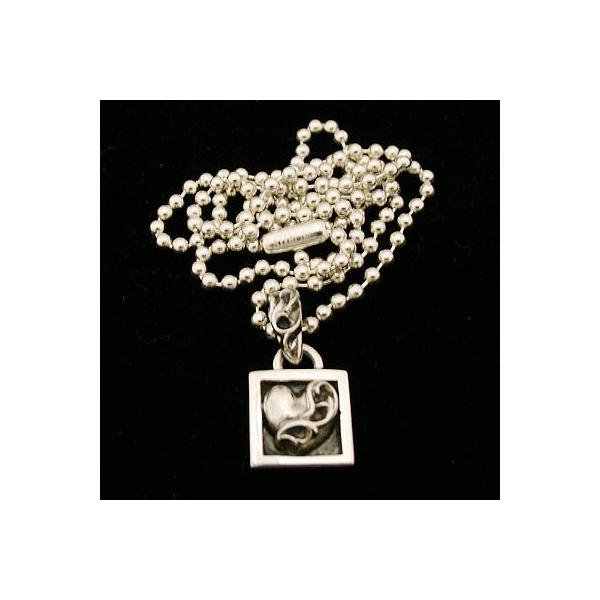 クロムハーツ Chrome Hearts  ネックレス framed heart charm フレーム ハート チャーム