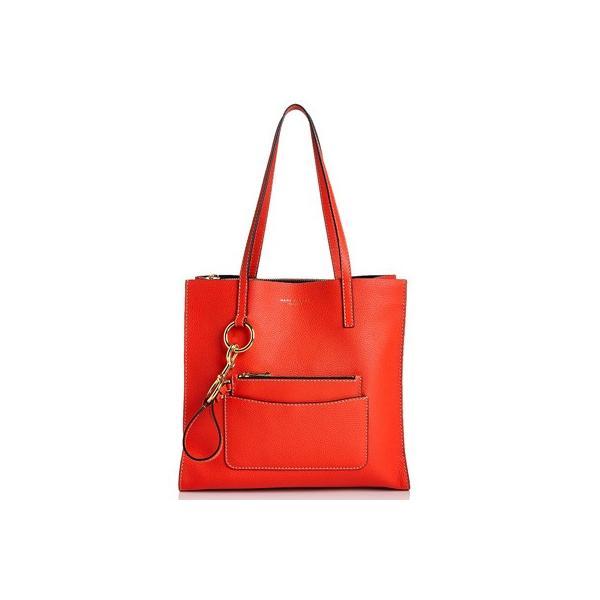 マークジェイコブス トートバッグ M0012566 MARC JACOBS  The Bold Grind Ew Shopper (Poppy Red) レザー ショッパー トートバッグ (レッド)