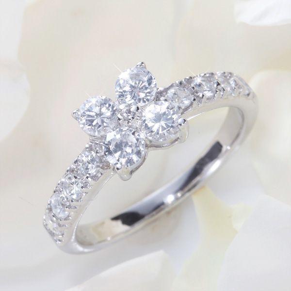指輪 花のリング フラワーリング 右手 薬指 彼女 プレゼント