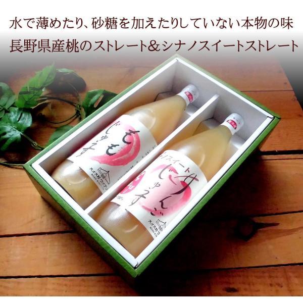 桃のストレートジュースと長野県産りんごシナノスイートのストレートジュースの詰め合わせ [桃&シナスイ] お中元 内祝い 誕生日プレゼント