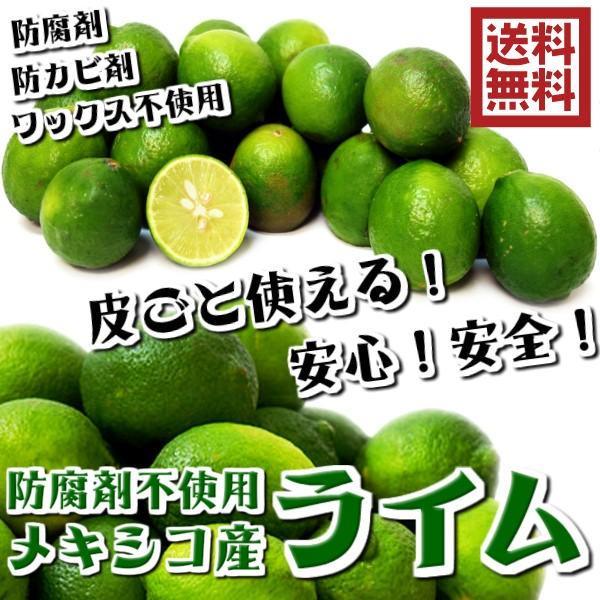 防ばい剤不使用 (メキシコ産 ライム 1kg クール便 )ポストハーベスト農薬、防腐剤不使用 約8〜10個 青果