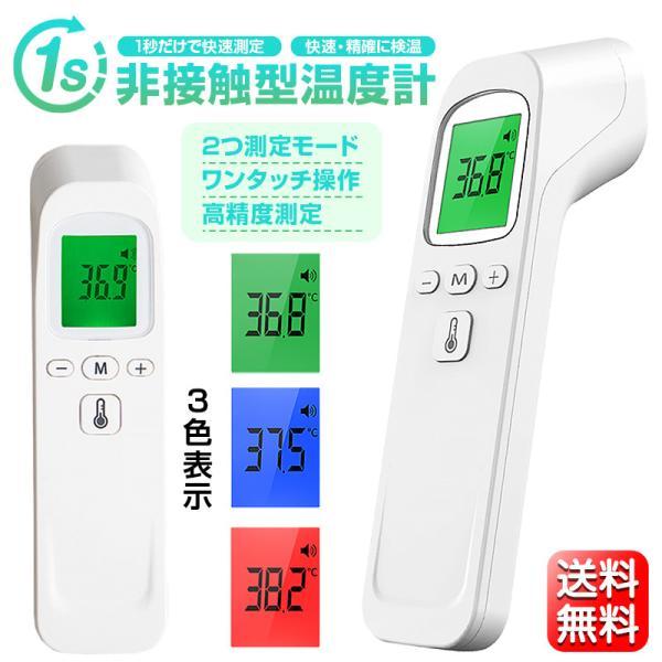 体温計 非接触型 日本語説明書付き 5%OFFセール中 赤外線 電子体温計 温度計 おでこ 送料無料 飲食店 学校 オフィス 感染対策 送料無料の画像