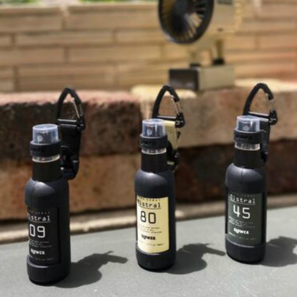 スプレーボトル 50ml アルコール対応 おしゃれ 家族 カラビナ付き PUMP SPRAY BOTTLE Mistral SLOWER|ftk-2|07