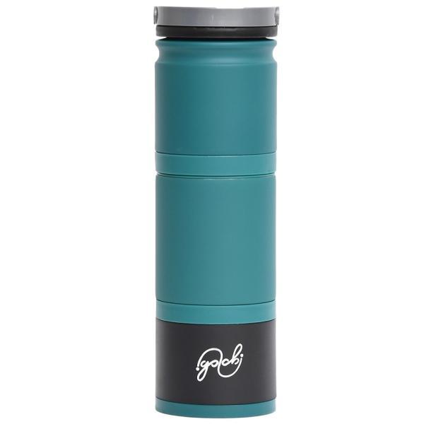 [正規品]真空断熱4WAYボトル『Golchi(ゴルチ)』/洗いやすいセパレート設計・飲みやすい広い飲み口/マグボトル(アクア)|fttrade-store