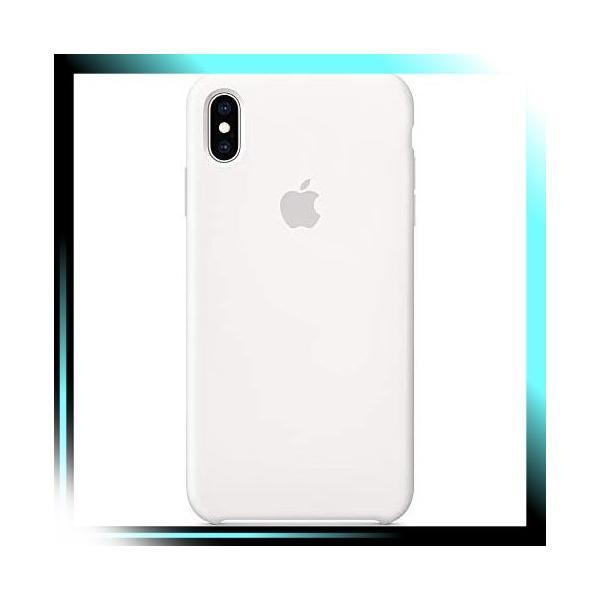ホワイト iPhone XS Maxシリコーンケース - ホワイト fubuki