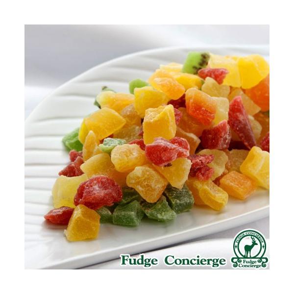 ドライフルーツミックス500g フルーツキューブ6種類 パイン キーウイ イチゴ メロン パパイヤ マンゴー 便利なチャック付き包装