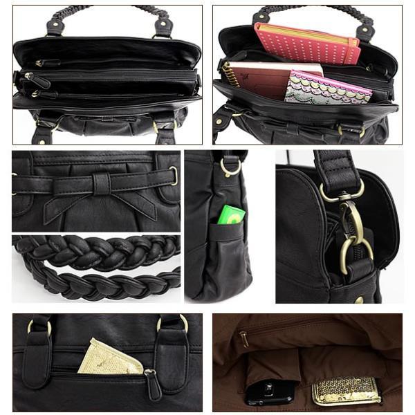 ショルダーバッグ レディース リボン 斜めがけ トートバッグ A4 通勤 通学 マザーズバッグ ママバッグ 大人可愛い かわいい パスケース入れ ICカードポケット