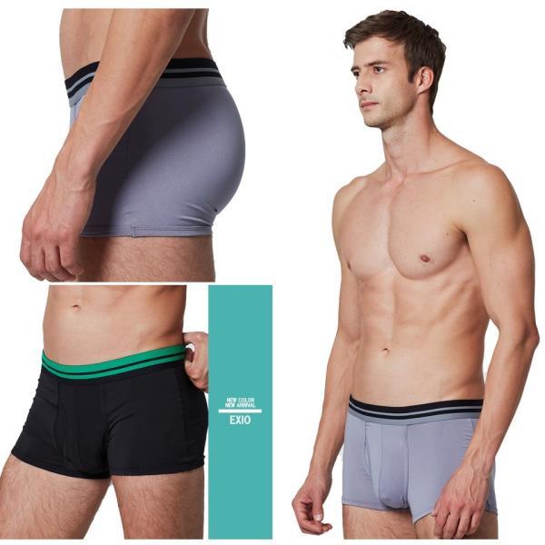 ボクサーパンツ メンズ 前開き ブランド アンダーウェア おしゃれ ローライズ パンツ 男性用下着 お試し ポイント消化 送料無料 4サイズ 全4色 EXIO エクシオ|fuerzajapan|06