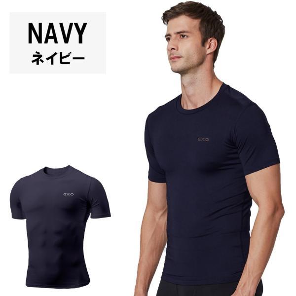 アンダーシャツ 半袖 丸首 メンズ 接触冷感 冷感インナー コンプレッション インナー シャツ コンプレッションウェア インナーシャツ 野球 全8色 EXIO エクシオ|fuerzajapan|15