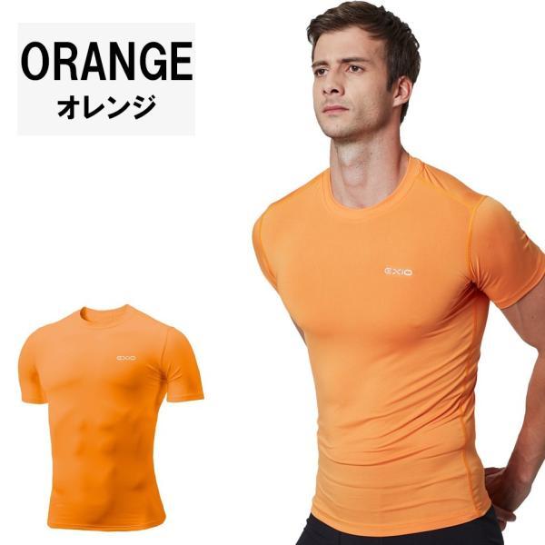 アンダーシャツ 半袖 丸首 メンズ 接触冷感 冷感インナー コンプレッション インナー シャツ コンプレッションウェア インナーシャツ 野球 全8色 EXIO エクシオ|fuerzajapan|16