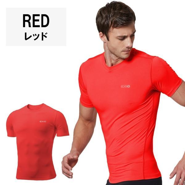 アンダーシャツ 半袖 丸首 メンズ 接触冷感 冷感インナー コンプレッション インナー シャツ コンプレッションウェア インナーシャツ 野球 全8色 EXIO エクシオ|fuerzajapan|18