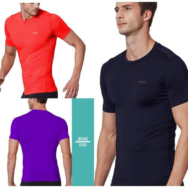アンダーシャツ 半袖 丸首 メンズ 接触冷感 冷感インナー コンプレッション インナー シャツ コンプレッションウェア インナーシャツ 野球 全8色 EXIO エクシオ|fuerzajapan|06