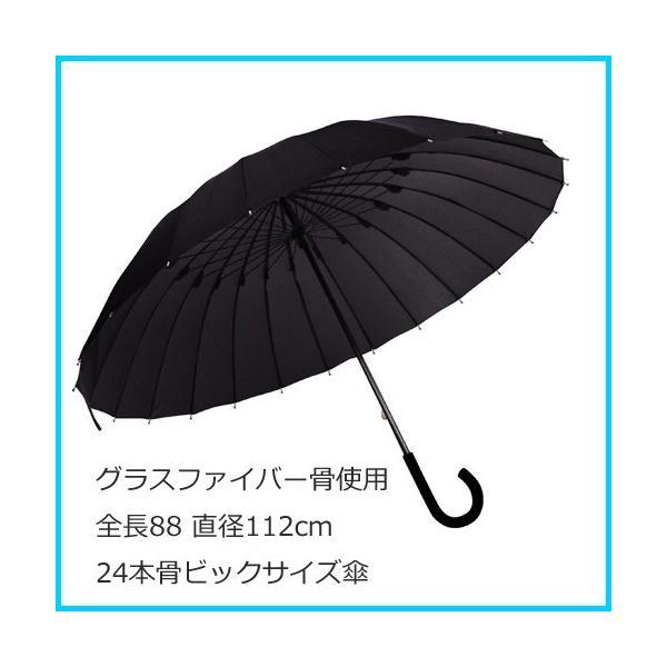 24本骨 撥水UVカット加工 グラスファイバー傘(65cm)