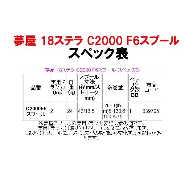 シマノ  夢屋 18ステラ C2000 F6スプール   Ξ ! 11/08
