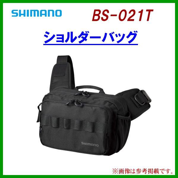 ( 8月末以降 生産予定 R3.6 )  シマノ  ショルダーバッグ  BS-021T  ブラック  ( 2021年 3月新製品 )