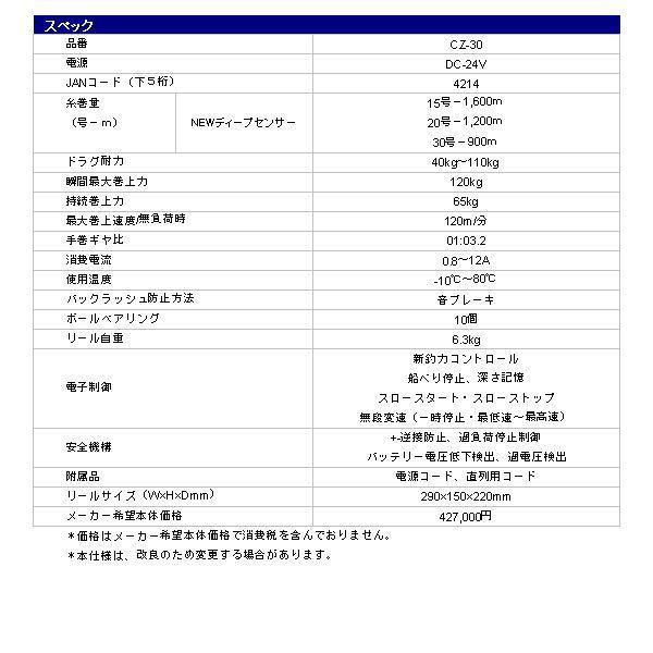 ミヤマエ ( ミヤエポック)  電動リール  コマンド  CZ-30  ( Z-30 )  ( 24V )   !|fuga0223|03
