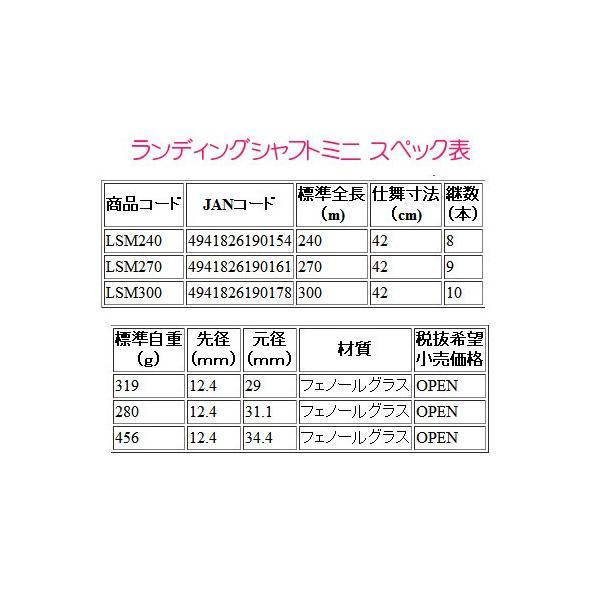 一部送料無料  OGK      ランディングシャフトミニ  300cm  ロッド  玉の柄  *5 !5|fuga0223|02