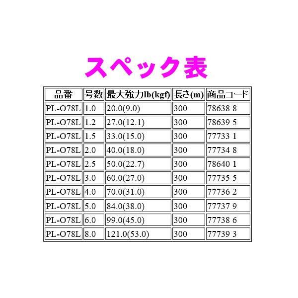 シマノ  オーシャン EX8 PE  PL-O78L  カラー:5色  2.0号  300m  ライン ( 定形外可  ) *6
