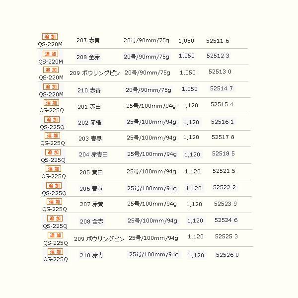 ≪'17年5月新商品!≫ シマノ セフィア ノリノリスッテ QS-210M 207 赤黄 10号/70mm/38g【4個セット】