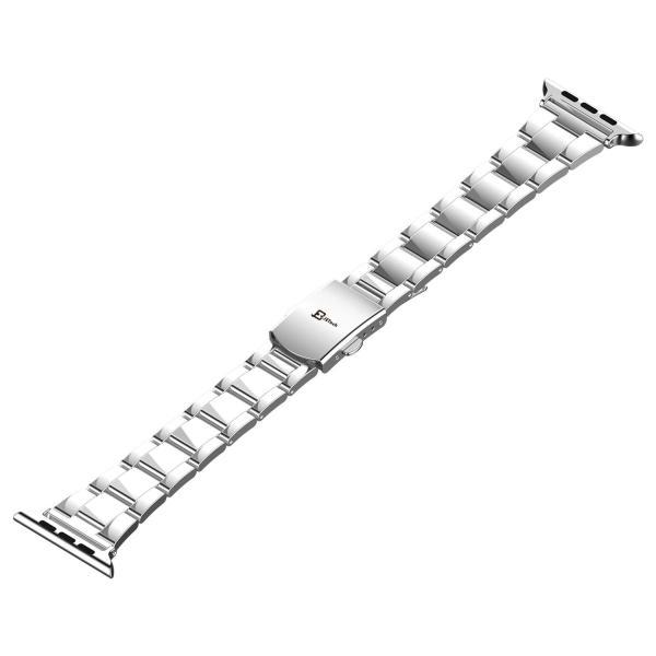JEDirect Apple Watch 用バンド 38mm と 40mm Series 1 2 3 4対応 ステンレス留め金製 シルバー|fujibeni|02