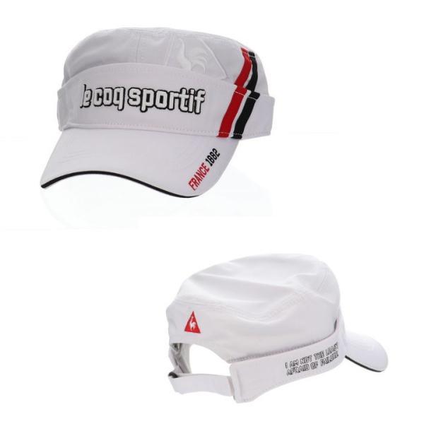 le coq sportif ルコック ワークキャップ/サンバイザー 2wayタイプ QGBMJC01 帽子「メール便不可」「あすつく対応」|fujico|02