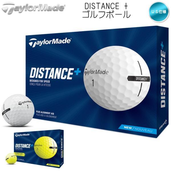 2021テーラーメイドDISTANCE+ディスタンスプラス1ダース(12球入り)ゴルフボールUS仕様TaylorMade「」「あ