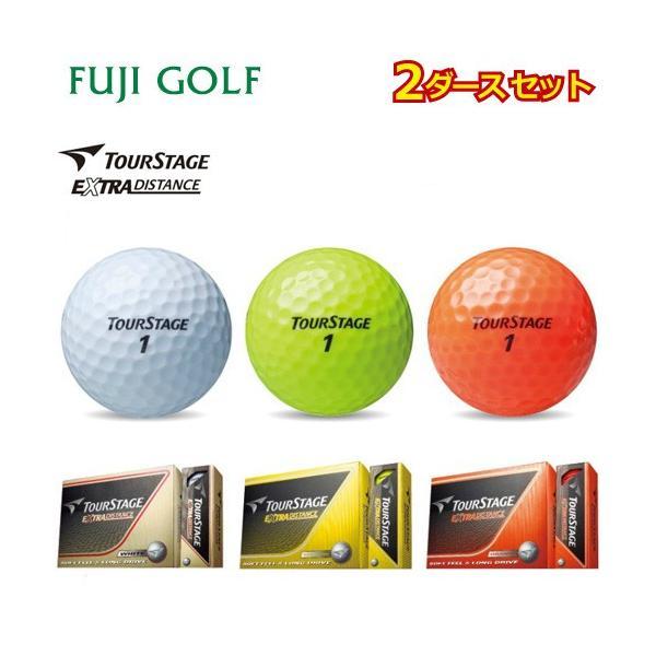 2ダースセット BRIDGESTONE GOLF ブリヂストン ゴルフ TourStage ツアーステージ EXTRA DISTANCE エクストラ ディスタンス ゴルフボール2ダース fujigolf-kyoto