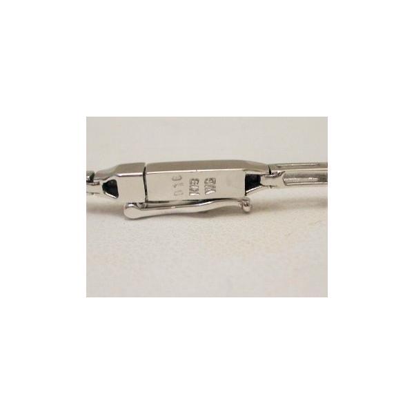 K18WG ホワイトゴールドブレスレットダイヤ0.16ct