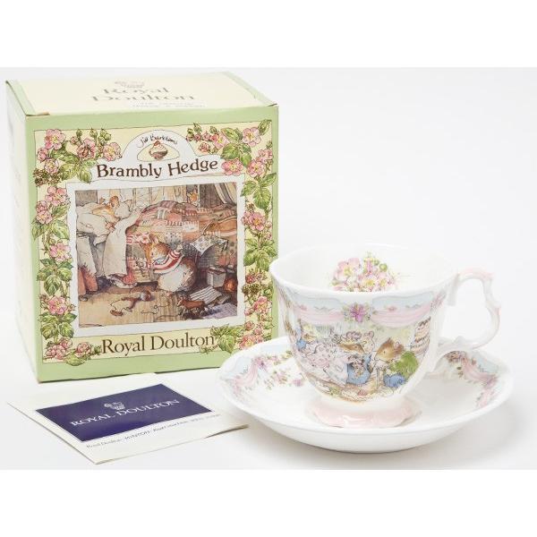 【送料無料】ロイヤルドルトン ブランベリーヘッジ ウェディングカップ&ソーサー/お茶のふじい・藤井茶舗