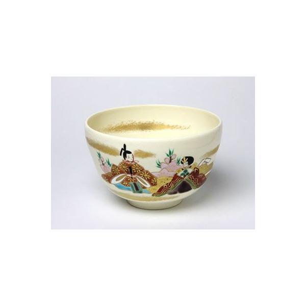 【送料無料】抹茶碗 雛に桃柳 MO-02 /お茶のふじい・藤井茶舗