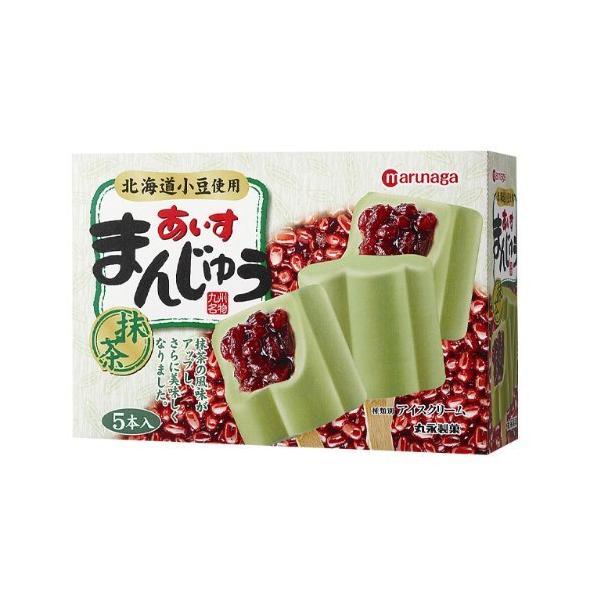 丸永あいすまんじゅう抹茶マルチ5本入×6ボックス