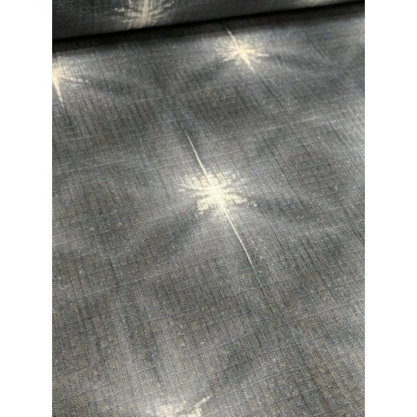 藤井絞 綿麻きもの 紅梅 雪花絞り 八つ畳 墨 板締め 仕立代込|fujikobo-yshop|04