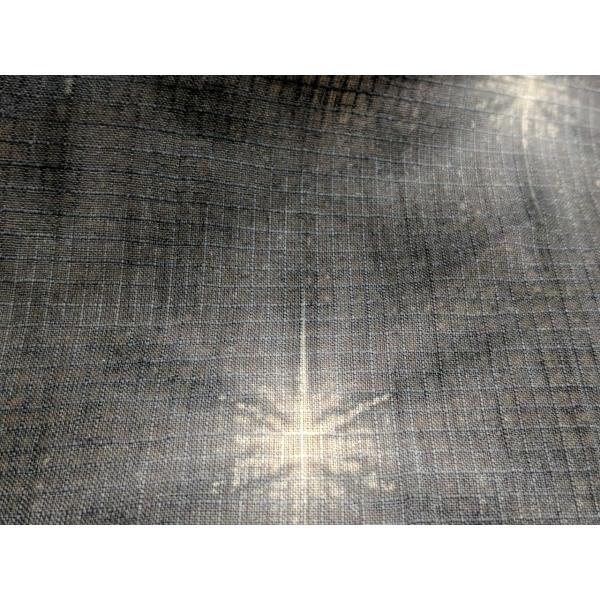 藤井絞 綿麻きもの 紅梅 雪花絞り 八つ畳 墨 板締め 仕立代込|fujikobo-yshop|09