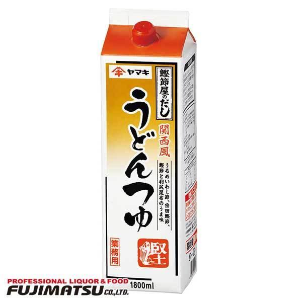 ヤマキ 関西風うどんつゆ 1.8L 紙パック
