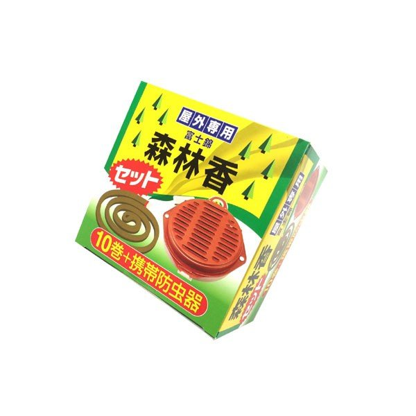 児玉兄弟商会 森林香10巻+携帯防虫器セット|fujino-netshop