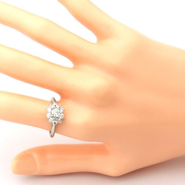 ティファニー フラワーリング プラチナ ダイヤ #11  8730