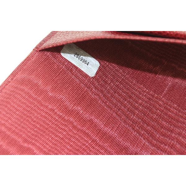 CHANEL シャネル ノートカバー 手帳カバー キャビアスキン 濃い赤色 【質屋 藤千商店】|fujisen78|08