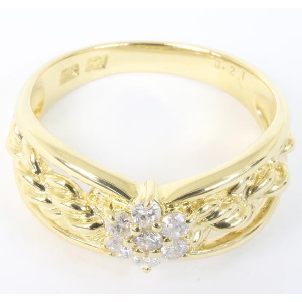 セイコージュエリー ダイヤモンド デザイン リング 18金 (K18)サイズ12.5 0.21ct 指輪 (質屋 藤千商店)|fujisen78|02